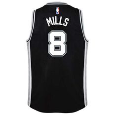 Nike San Antonio Spurs Patty Mills Icon 2019 Kids Swingman Jersey Black S, Black, rebel_hi-res