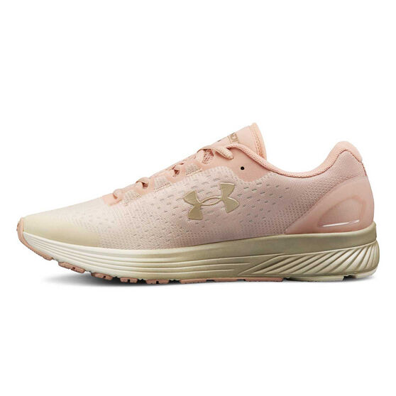 Under Armour Charged Bandit Womens Running Shoe, Pink / White, rebel_hi-res