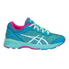 Asics Gel Netburner Professional Girls Shoes Blue / White US 1, Blue / White, rebel_hi-res