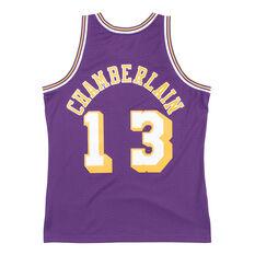 Los Angeles Lakers Wilt Chamberlain 71/72 Mens Swingman Jersey Purple / Yellow S, Purple / Yellow, rebel_hi-res