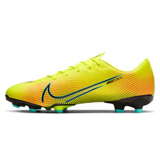 Nike Mercurial Vapor VII Academy MDS Football Boots Yellow/Black US Mens 4 / Womens 5.5, Yellow/Black, rebel_hi-res
