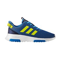 adidas Cloudfoam Racer TR Kids Casual Shoes Blue / Yellow US 6, Blue / Yellow, rebel_hi-res