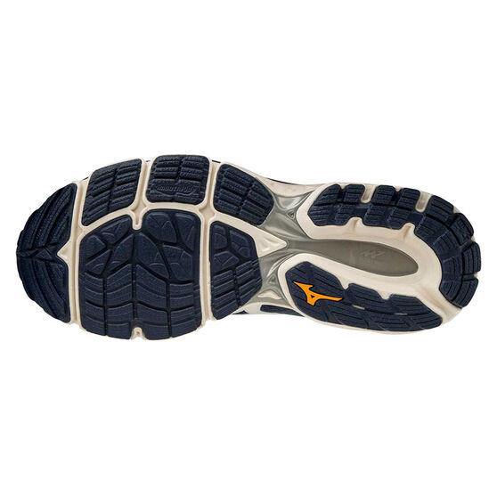 Mizuno Wave Inspire 16 2E Mens Running Shoes, Blue/Orange, rebel_hi-res