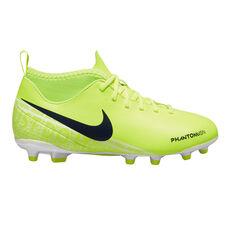 Nike Phantom Vision Club Dynamic Fit Kids Football Boots Green / White US 10, Green / White, rebel_hi-res
