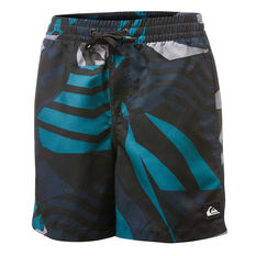 "Quiksilver Boys Neo Geo 14"" Volley Board Shorts Blue 8, Blue, rebel_hi-res"