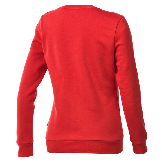 Puma Womens Essentials Logo Crew Neck Sweater, Red, rebel_hi-res