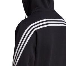 adidas Mens FI Full Zip Hoodie, Black, rebel_hi-res