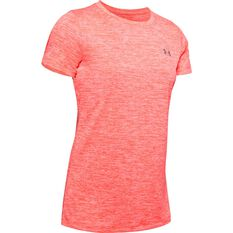 Under Armour Womens Tech Twist Tee Orange XS, Orange, rebel_hi-res