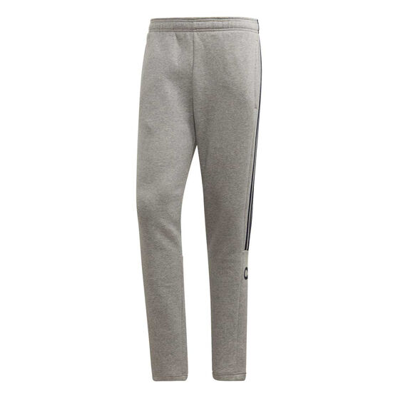 adidas Mens 3-Stripes Tapered Track Pants, Grey, rebel_hi-res