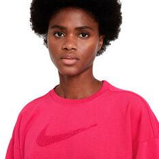Nike Womens Dri-FIT Get Fit Training Sweatshirt, Pink, rebel_hi-res