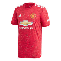 Manchester United 2020/21 Mens Home Jersey Red S, Red, rebel_hi-res