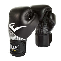 Everlast Pro Style Advanced Training Boxing Gloves Black / Silver, Black / Silver, rebel_hi-res