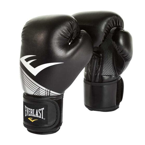 Everlast Pro Style Advanced Training Boxing Gloves Black / Silver, Black / Silver, rebel_hi-res