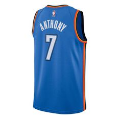 Nike Oklahoma City Thunder Carmelo Anthony Icon 2018 Mens Swingman Jersey Signal Blue S, Signal Blue, rebel_hi-res