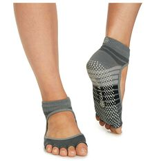 Gaiam Mary Jane Yoga Socks Grey, , rebel_hi-res