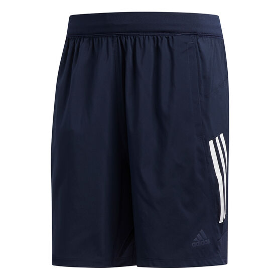 adidas Mens 4KRFT Tech 3-Stripes Woven Shorts, Navy, rebel_hi-res