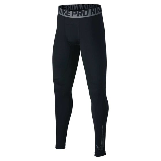 Nike Boys Pro Tights, Black / Grey, rebel_hi-res