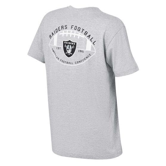 Oakland Raiders Mens Kardy Tee, Grey, rebel_hi-res
