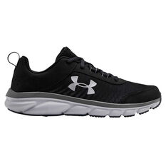 Under Armour Charged Assert 8 Kids Running Shoes Black / White US 4, Black / White, rebel_hi-res