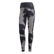 adidas Womens Believe This High Rise Tights Black XS, Black, rebel_hi-res