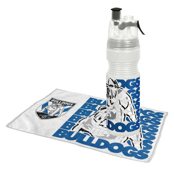 Canterbury Bulldogs Water Bottle and Gym Towel Pack, , rebel_hi-res
