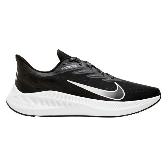 Nike Zoom Winflo 7 Mens Running Shoes, Black/White, rebel_hi-res