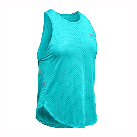 Under Armour Womens Armour Sport Graphic Tank, Blue, rebel_hi-res