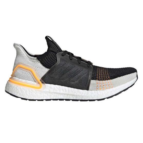 adidas Ultraboost 19 Mens Running Shoes, Black / White, rebel_hi-res