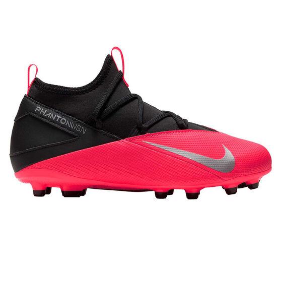 Nike Phantom Vision II Club Kids Football Boots, Black / Red, rebel_hi-res