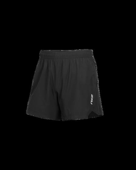 2XU Mens XVENT 5in Shorts, Black, rebel_hi-res