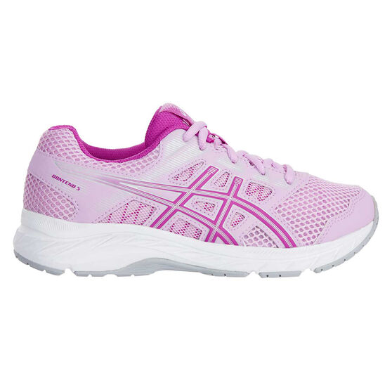 Asics Gel Contend 5 Kids Running Shoes Lilac / White US 6, Lilac / White, rebel_hi-res