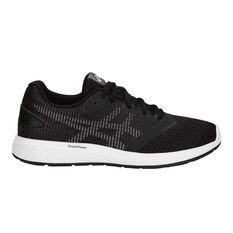 Asics Patriot 10 Kids Training Shoes Black / White US 4, Black / White, rebel_hi-res