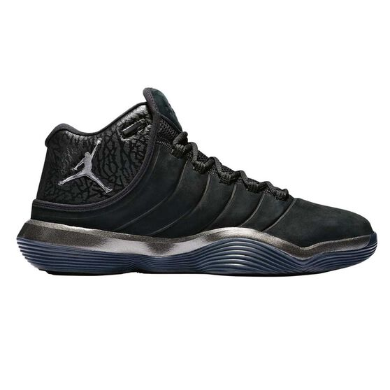 timeless design 173d6 b21f8 Nike Jordan Lunar Superfly Mens Basketball Shoes Black   Silver US 7, Black    Silver