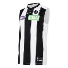 Collingwood Magpies 2021 Mens Away Guernsey Black/White S, , rebel_hi-res