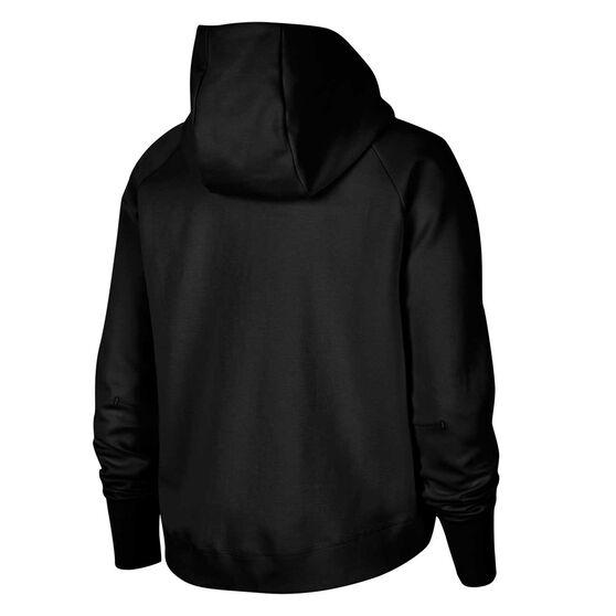 Nike Womens Windrunner Tech Fleece Full Zip Hoodie, Black, rebel_hi-res