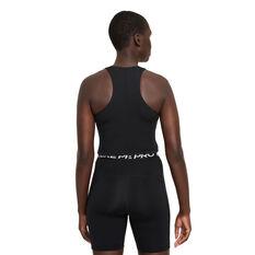 Nike Pro Womens Dri-FIT Cropped Graphic Tank Black XS, Black, rebel_hi-res