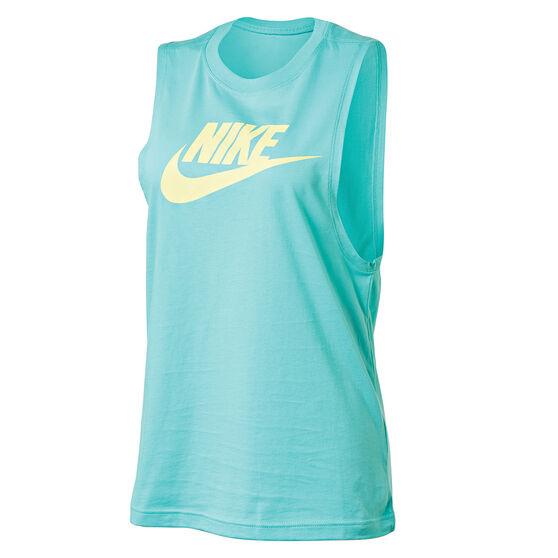 Nike Womens Sportswear Essential Tank Aqua XS, Aqua, rebel_hi-res