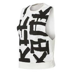 Reebok Womens French Terry Muscle Tank Chalk XS Adult, Chalk, rebel_hi-res