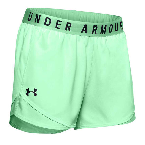 Under Armour Womens Play Up 3.0 Twist Shorts, Green, rebel_hi-res