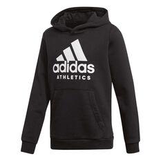 adidas Boys Sport ID Hoodie Black 8, Black, rebel_hi-res