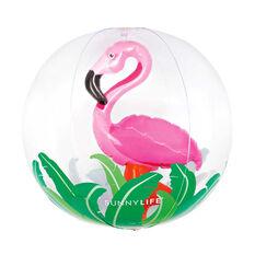 Sunnylife Inflatable 3D Flamingo Beach Ball, , rebel_hi-res