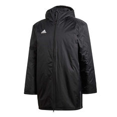 adidas Mens Core 18 Stadium Football Jacket Black S, Black, rebel_hi-res