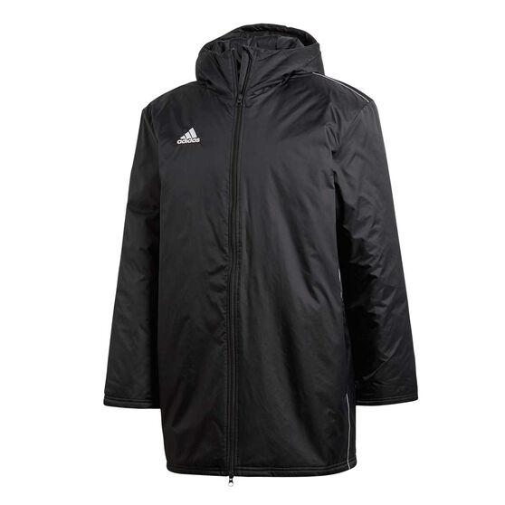 adidas Mens Core 18 Stadium Football Jacket, Black, rebel_hi-res