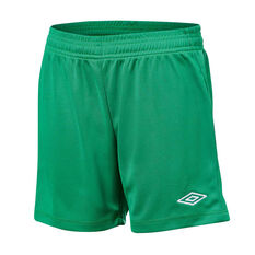 Umbro League Kids Football Shorts Green S, Green, rebel_hi-res