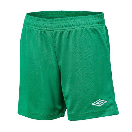 Umbro League Kids Football Shorts, Green, rebel_hi-res
