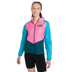 Nike Womens Shield Trail Running Jacket Pink XS, Pink, rebel_hi-res