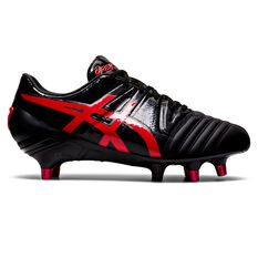 Asics GEL Lethal Tight Five Rugby Boots Black/Red US Mens 9 / Womens 10.5, Black/Red, rebel_hi-res