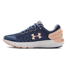 Under Armour Charged Rogue 2 Kids Running Shoes Blue/Pink US 4, Blue/Pink, rebel_hi-res