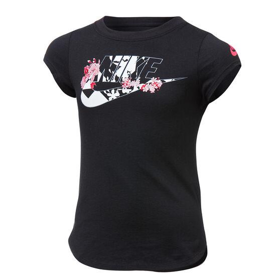Nike Girls Icon Clash Tee, Black/Pink, rebel_hi-res