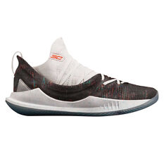 Under Armour Curry 5 Mens Basketball Shoes White / Coral US 7, White / Coral, rebel_hi-res